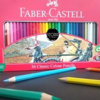Faber Castell 36 Classic Colour Pencil Pensil Warna Kemasan Kaleng