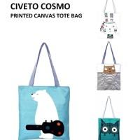 TC17 Civeto Cosmo Printed Canvas Tote Bag / Tas Selempang