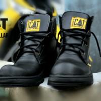 sepatu safety boots pria caterpillar high black 6 hole 02