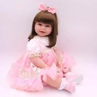 PO Boneka Reborn Princess in Pink Dress / Boneka Mirip Bayi NPK