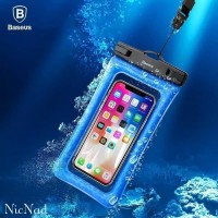 Baseus Waterproof Universal Phone Case - Casing Handphone Anti Air - Biru