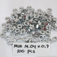 Mur M4 Mur Baut JP 4mm / per 100 pcs