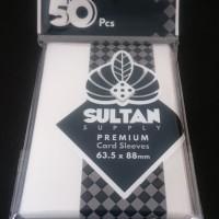 Sultan 50pcs 63.5mmx 88mm -66x91- Board Game Sleeves Standart - Onyx