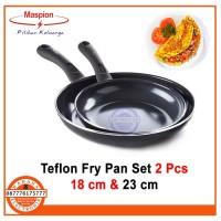 Maspion Teflon Frypan Set 2in1 18cm dan 23cm / Fry Pan Wajan Murah