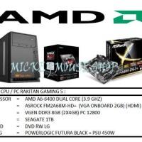 Stock Banyak Paket Cpu Rakitan Gaming 5 /Amd A6-6400 (3.9 Ghz)/ Ram