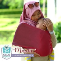 Geos Gendongan Kaos Bayiku.id 2in1 Instant Baby Wrap - L - maroon