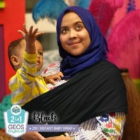 Geos Gendongan Kaos Bayiku.id 2in1 Instant Baby Wrap - M - maroon