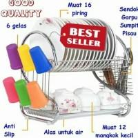 RAK PIRING STAINLESS MURAH BEST SELLER - Rak Peralatan Dapur
