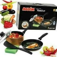maxim venice set 5pcs /paket dapur peralatan masak keperluan masak