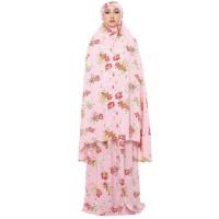 Mukena Tazkia Rayon Spring Garden Pink