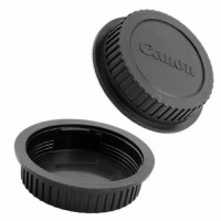 Body cap & Lens Rear Cap Cover Canon tutup body lensa