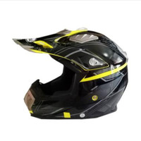 Snail Helmet315 Helm Cross - Black Yellow