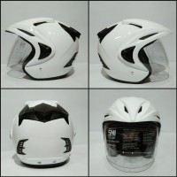 Limited Helm Putih Polos Thi Solid Series
