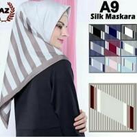 Jual Hijab Jilbab s4 segiempat motif by azara matt silk satin