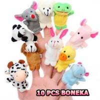 10 pcs boneka jari finger family animal puppet binatang mainan bayi