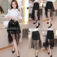 (#160)Brenda Skirt/Rok ada furing/Rok mini/Lace Skirt