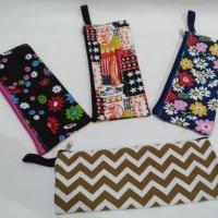obral tempat pensil bahan kanvas / pouch pinsil / kotak pensil murah