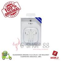 HANDSFREE IPHONE 5 S 6 S PLUS + HF HEADSET EARPHONE ORIGINAL 100%