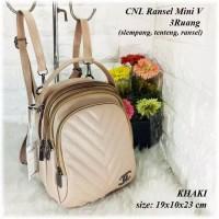 TAS BATAM TAS WANITA IMPORT TAS CHANEL Ransel Mini V 3Ruang Backpack