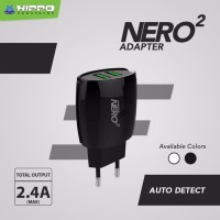 Hippo Adaptor Charger Nero 2 USB Port - Simple Pack