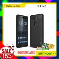 Soft Case iPAKY Carbon Fiber TPU Karet for Nokia 8 Laris
