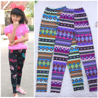 Legging Motif uk 10-12 Tahun Celana Anak Perempuan Leging
