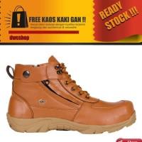 Sepatu Full Black Crocodile Safety Crdl Black Ujung Besi