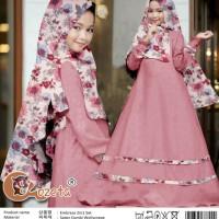 Pakaian Anak Perempuan Muslim Embrasa Gamis Kids 2in1 Pink Talx.5570