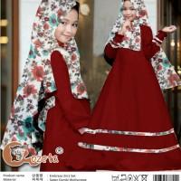 Pakaian Anak Perempuan Muslim Embrasa Gamis Kids 2in1 Maroon Talx.5570