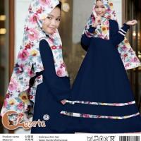 Pakaian Anak Perempuan Muslim Embrasa Gamis Kids 2in1 Navy Talx.5570