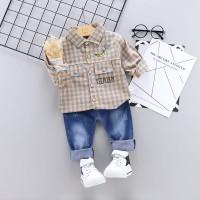 Baju Setelan Anak Laki laki | Kemeja Import Celana Jeans Murah