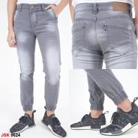 Celana Jeans Pria Jogger Abu Muda JSK9624