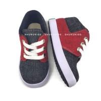 Sepatu Anak Laki Laki Perempuan Semi Boots Merah Hitam