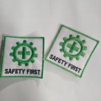 Logo Emblem Bordir Safety First