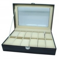 Kotak Box Jam Tangan Luxury Tempat Simpan Penyimpan Jam Tangan 12 Slot