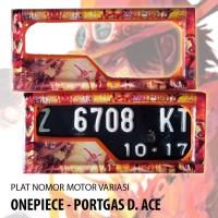 Jual Promo Dudukan Plat Nomor Motor Variasi Akrilik Gambar Onepiece
