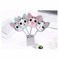MJ232 Pena Kipas Motif Kucing Imut & Cute