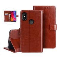 Flip Case Wallet Leather Cover Xiaomi Redmi S2 Casing Kulit Dompet S2 - Merah