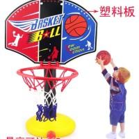 mainan set ring basket anak + bola + pompa ( olahraga edukatif )