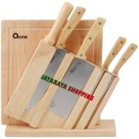Pisau Dapur Oxone OX95 – Wooden Knife Set Brand : Oxone