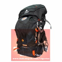 Tas Ransel Carrier EIGER RHINOS 1242 Black 45L + Rain Cover
