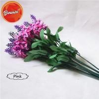 Bunga Artificial Plastik Dekorasi Rumah -Setangkai Bunga Lavender AF11