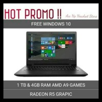 Sale Laptop Lenovo Ideapad 110 14Ast Ram 4Gb/ Hdd 1Tb/ Amd A9/ Redeon