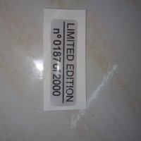 sticker timbul limited edition