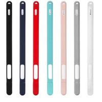 PR2SL Apple Pencil 2 2nd Gen Case Sleeve Silikon W- Cap & Adapter Hook