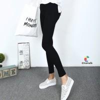 Chamele - Celana Legging Basic Wanita Warna Hitam uk L-XL