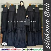Mukena Bali Black Rempel Jumbo Katun Rayon Super Grosir Murah
