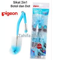 Pigeon Nylon Bottle & Nipple Brush 2in1 Sikat Botol Susu dan Dot Bayi