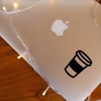 Decal Sticker Macbook Apple Stiker Coffee Cup Kopi Laptop