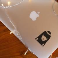 Decal Sticker Macbook Stiker Emily the Strange Laptop
